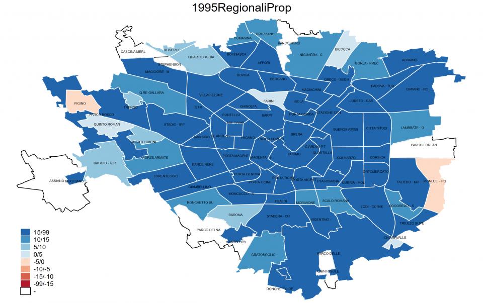 Il voto nelle grandi città: mappe Milano